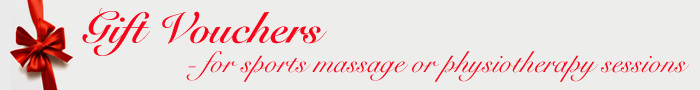 Gift Vouchers - For sports massage or physiotherapy sessions